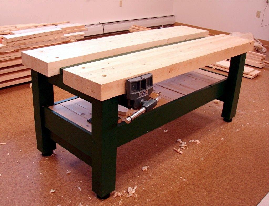 Dan S Shop New Workbench For School Shop Woodworking Workbench Workbench Woodworking Bench