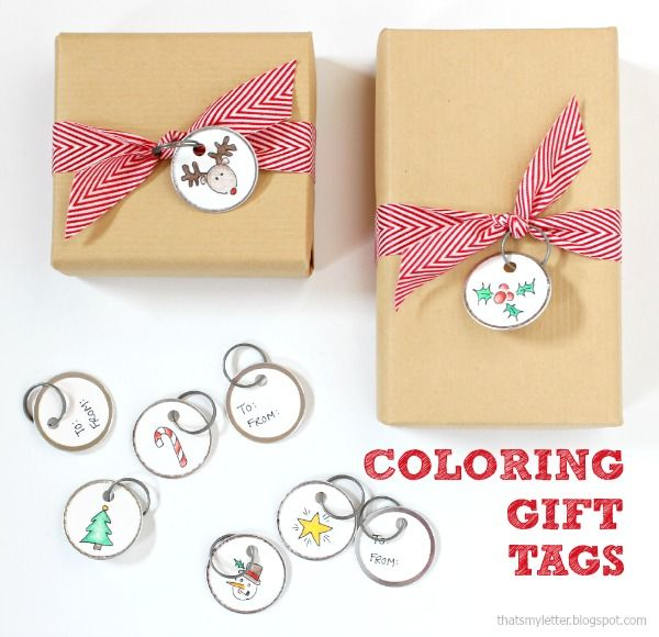 That's My Letter: DIY Coloring Gift Tags
