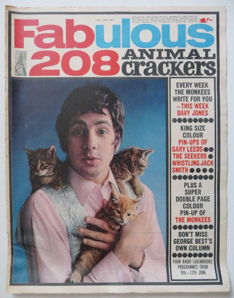 Cat Stevens With Kittens Fabulous 208 Magazine 10th June 1967