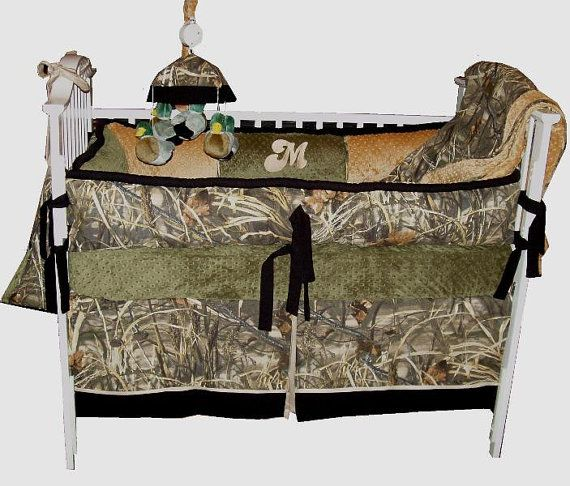 Camo Custom Crib Bedding