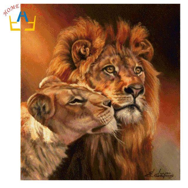 Pintura Al Oleo Leones Pinturas De Animales Animales Salvajes