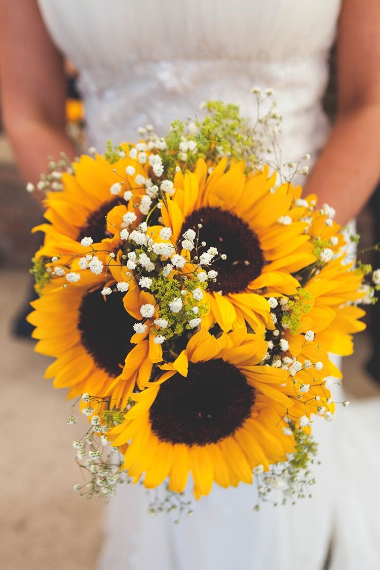 Navy Yellow Sunflowers Brewery Wedding Brewery Wedding Yellow
