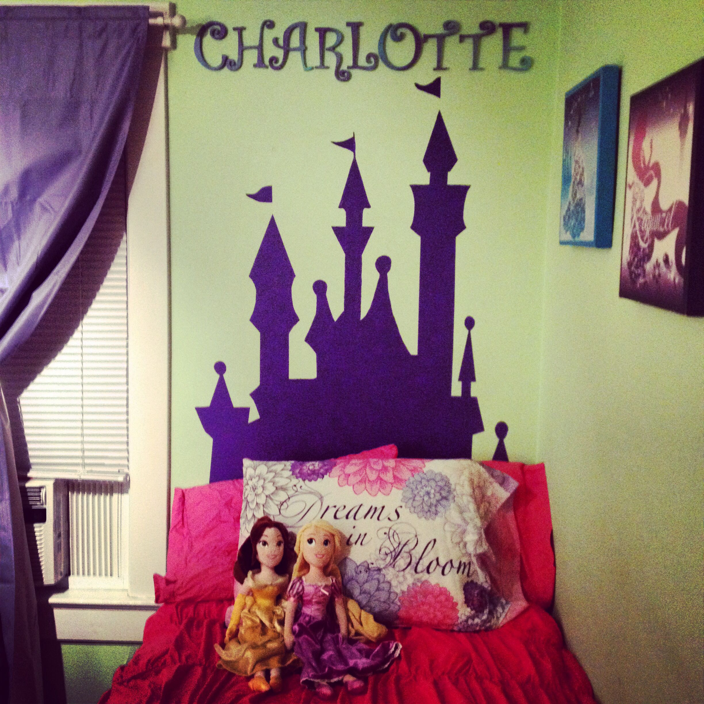 disney castle silhouette - great headboard for an little princess
