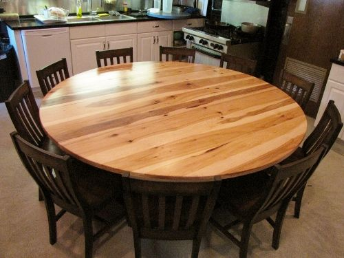 Rustic Elements Furniture...Round Hickory 4 Post Pedestal Table