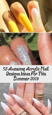 58 awesome acrylnagel designs ideen für diesen sommer