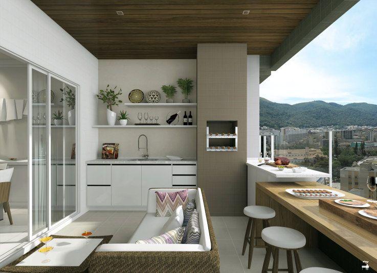 Pin de Elis Zanetti en Varanda gourmet Pinterest Balcones - interiores de casas