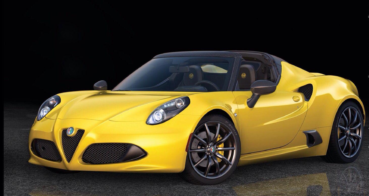 Yellow Sports car, Alfa romeo, Yellow