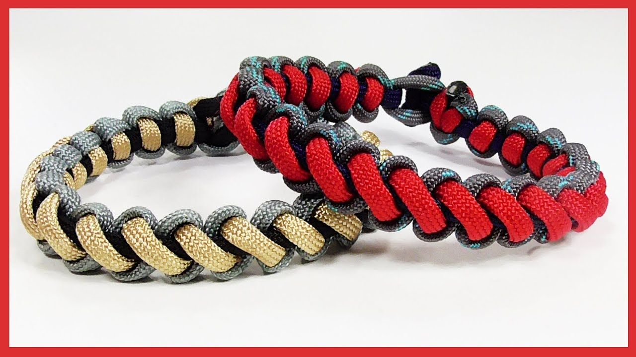Paracord Bracelet Thin Line Bootlace Bar Bracelet Design