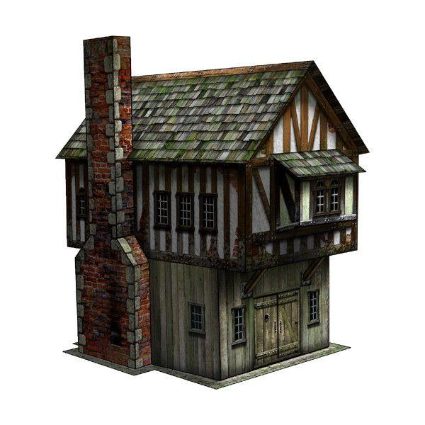 Tudor Shop Paper Model Dave Graffam Models | Around The World