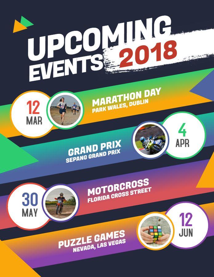 Modern Upcoming Event Calendar Flyerposter Template Design Event