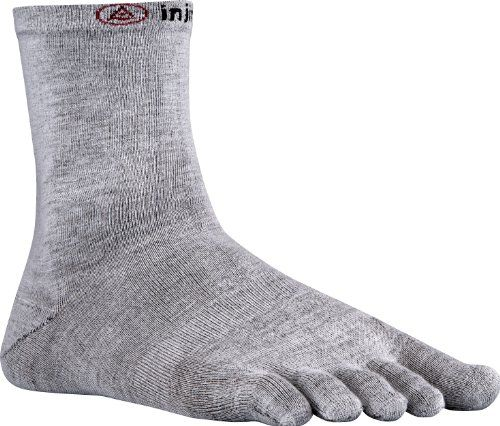 Injinji 20 Mens Liner Crew Toesocks Gray XLarge *** Click image to review more details.