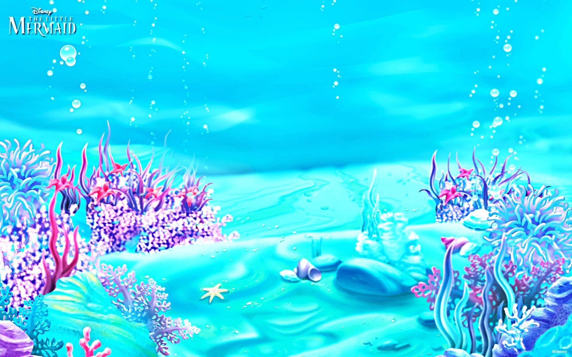 Luxury Little Mermaid Wallpaper | Mermaid wallpapers ...