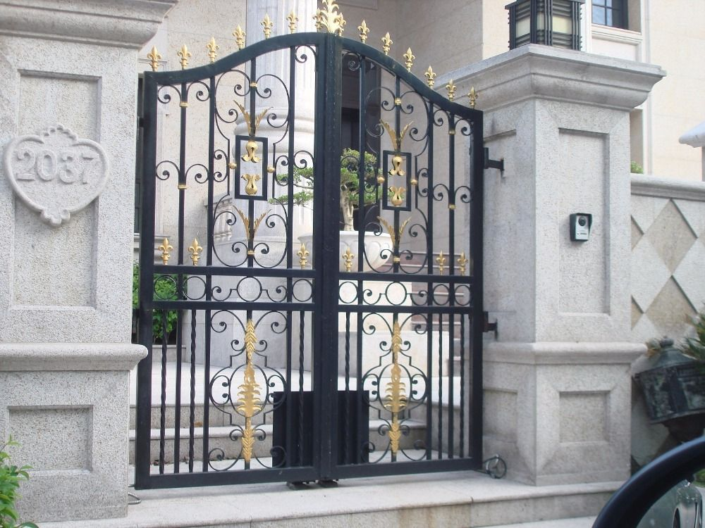 Hench Custom Made Driveway Wrought Iron Gates Hench Ig2 Wrought