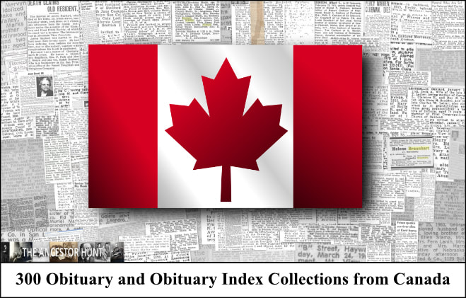 300 Obituary And Obituary Index Collections From Canada In 2020 Historical Newspaper Obituaries Canada
