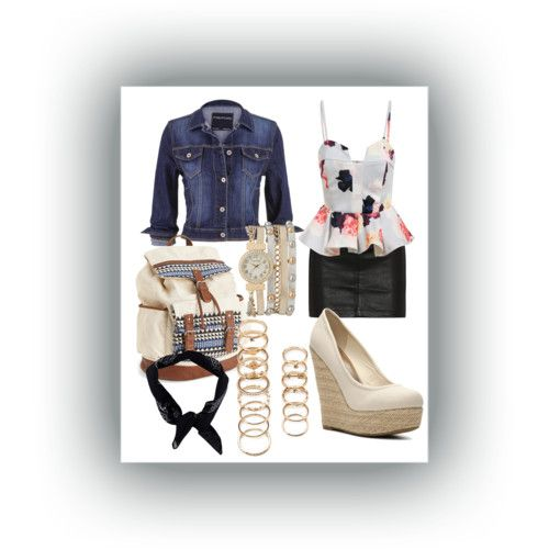 Neutral Floral by wooga on Polyvore featuring polyvore fashion style maurices rag & bone/JEAN Madden Girl Aéropostale Forever 21 Boohoo