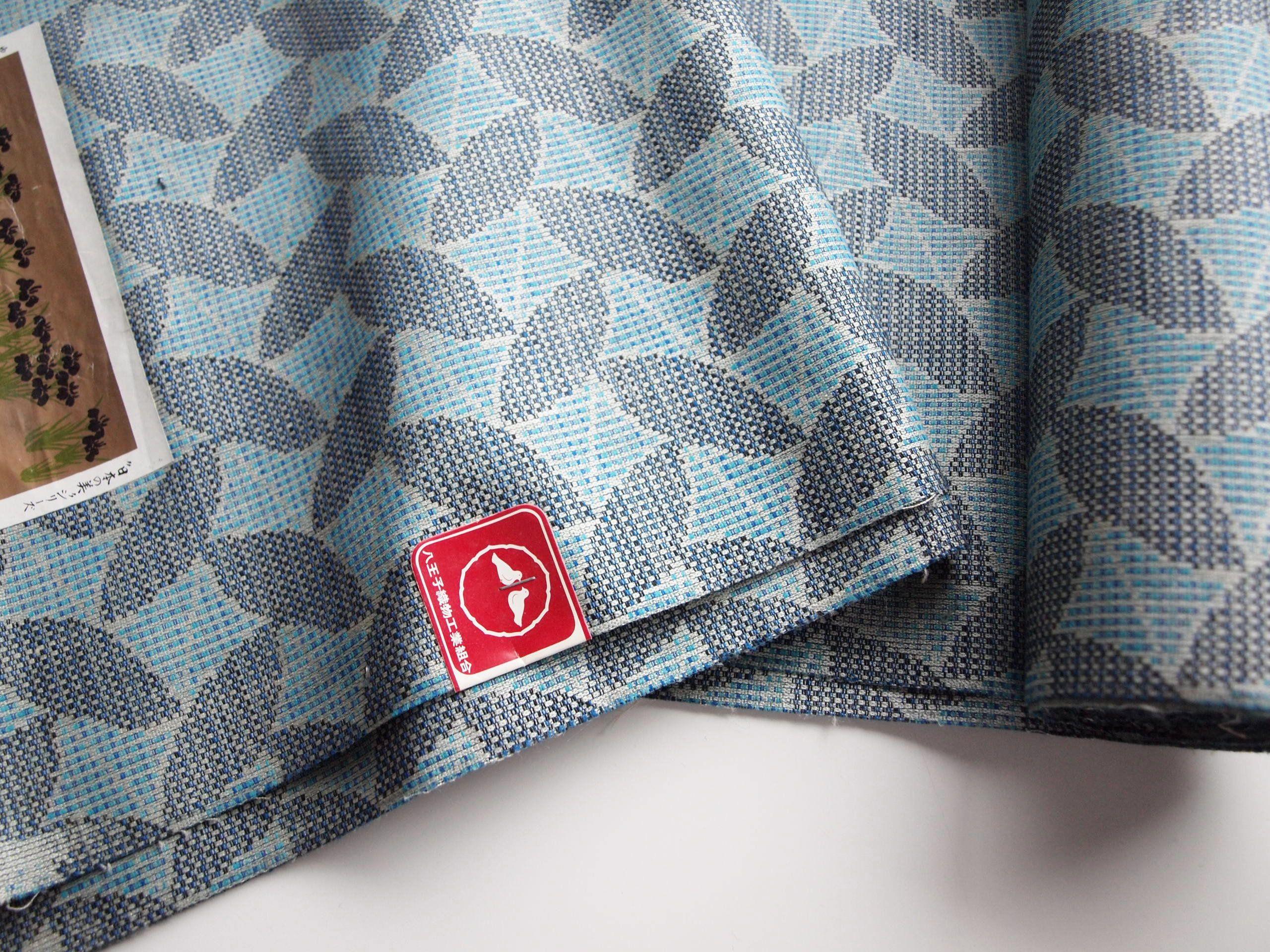 Blue Wool And Silk Blend Kimono Fabric Unused Bolt By The Yard Etsy Kimono Fabric Blue Wool Vintage Kimono Jacket