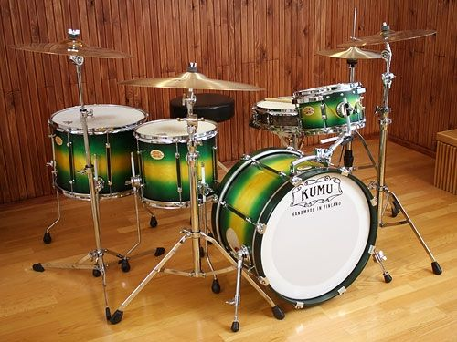 Kumu Drums - Drumset..comes in a range of colours and designs..... funky.