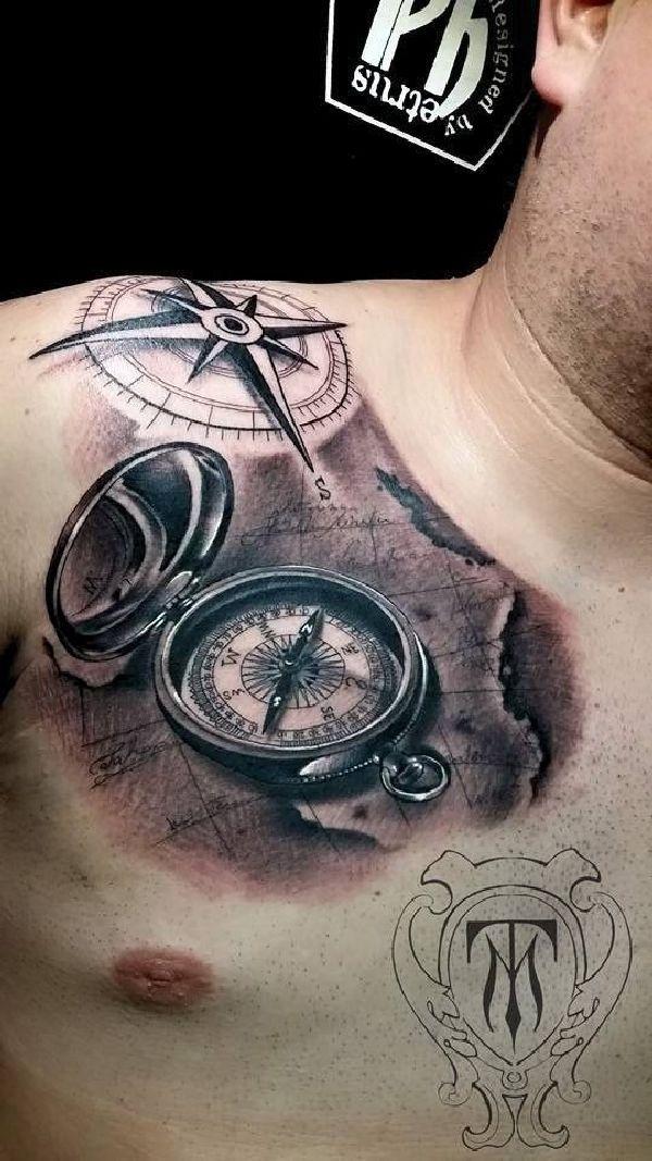 40 wundervolle kompass tattoos compass tattoo and tatoo. Black Bedroom Furniture Sets. Home Design Ideas