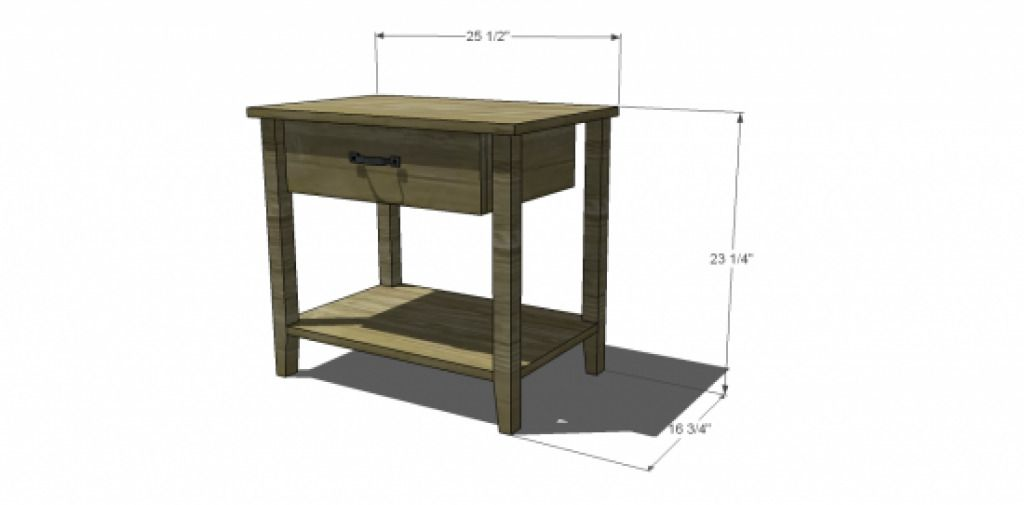 Standard Nightstand Height How To Pick The Right Bedside Table Intended For Of
