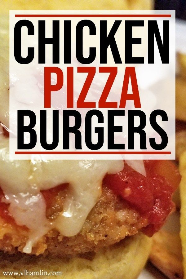 Cheesy Chicken Pizza Burgers: Just 4 Ingredients images