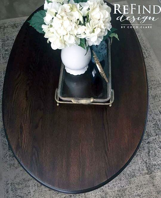 Oval Coffee Table Makeover
