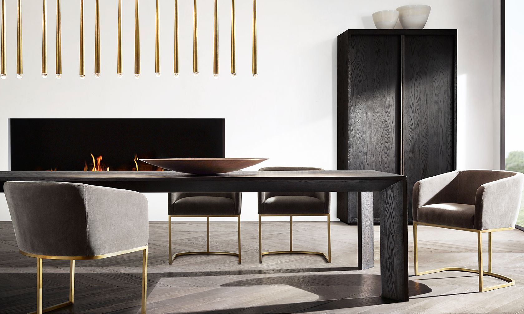 Introducing The Arles Dining Table Collection Restoration Hardware - Restoration hardware modern dining table