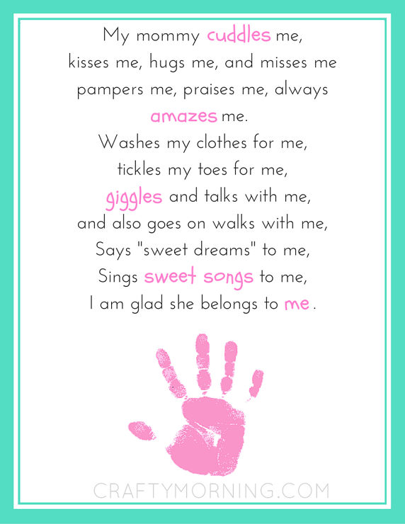 photograph about Printable Mothers Day Poems named Mommy Belongs towards Me Printable Poem for Moms Working day- Cunning