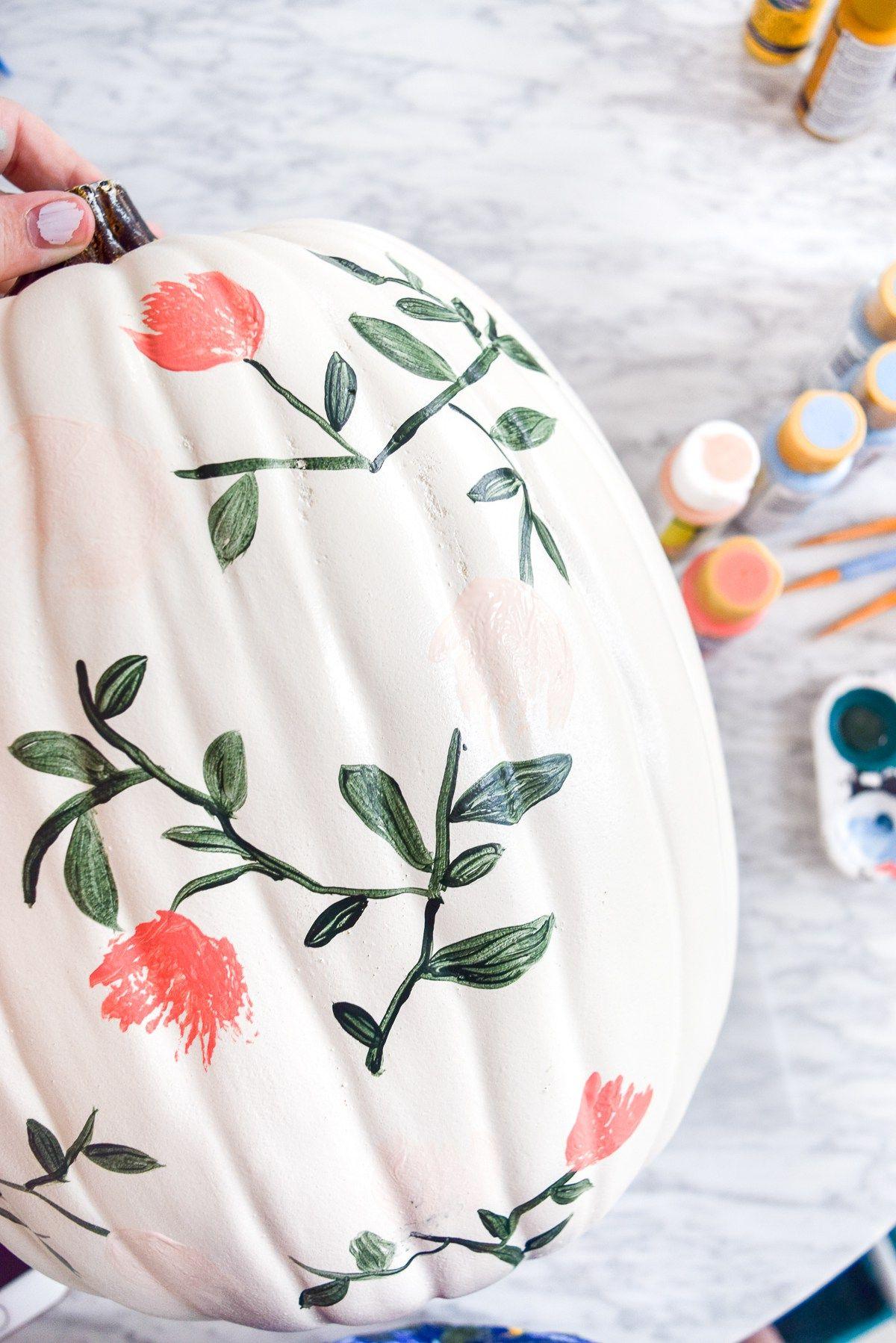 DIY Painted Pumpkins #paintedpumpkinideas