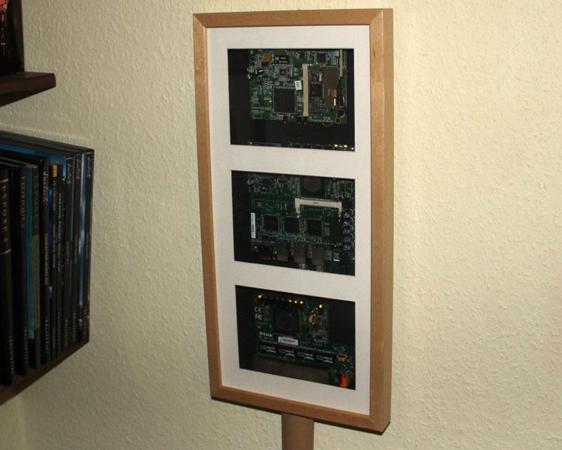 Ikea hack: router, switch y wlan dentro de un marco RIBBA | Router ...