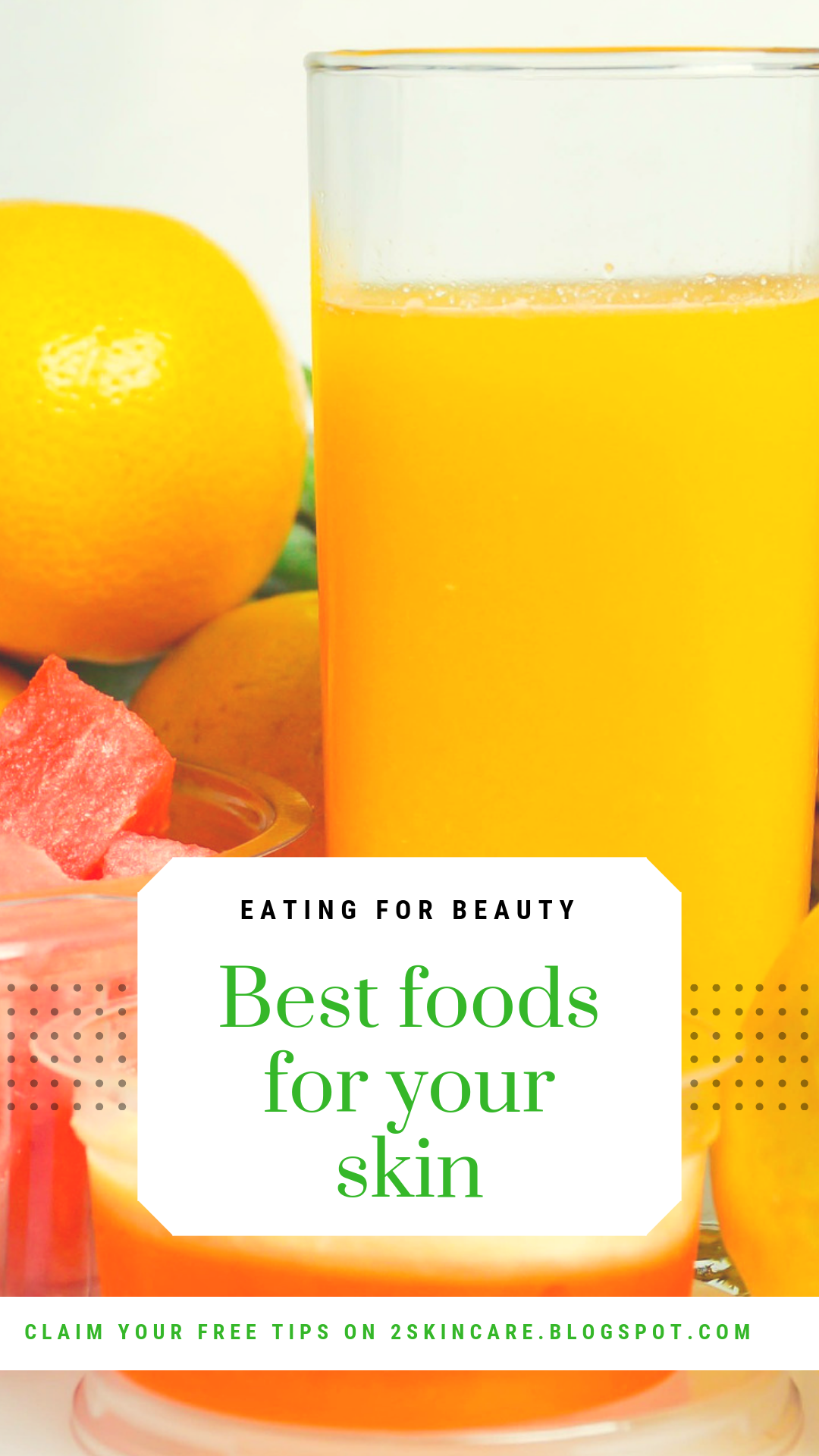 SKINCARE DIET (BEAUTY DIET) Foods for healthy skin, Anti