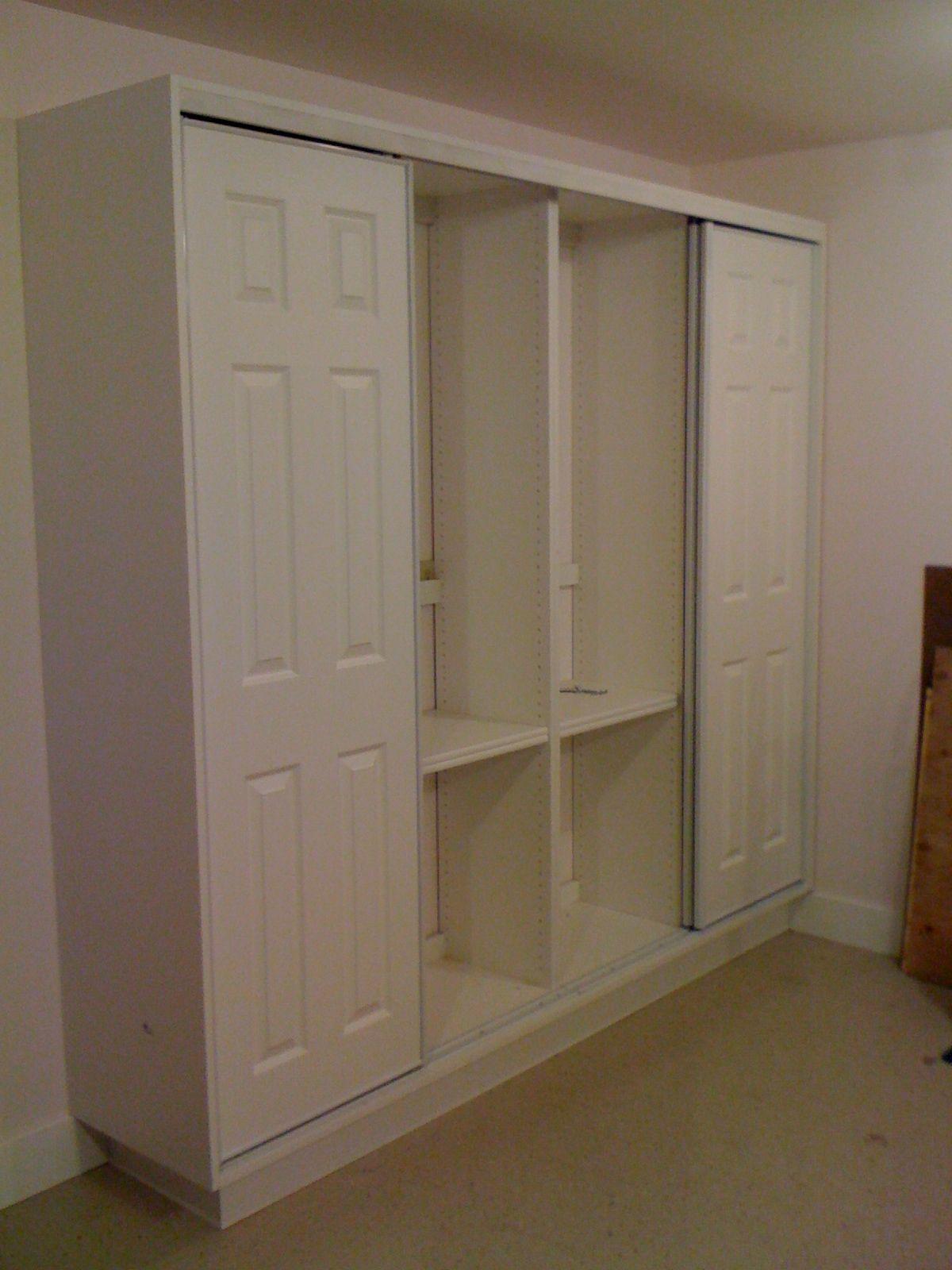 Hallway storage with sliding doors  Garage Storage Cabinet Retro Tech Construction Llc for dimensions