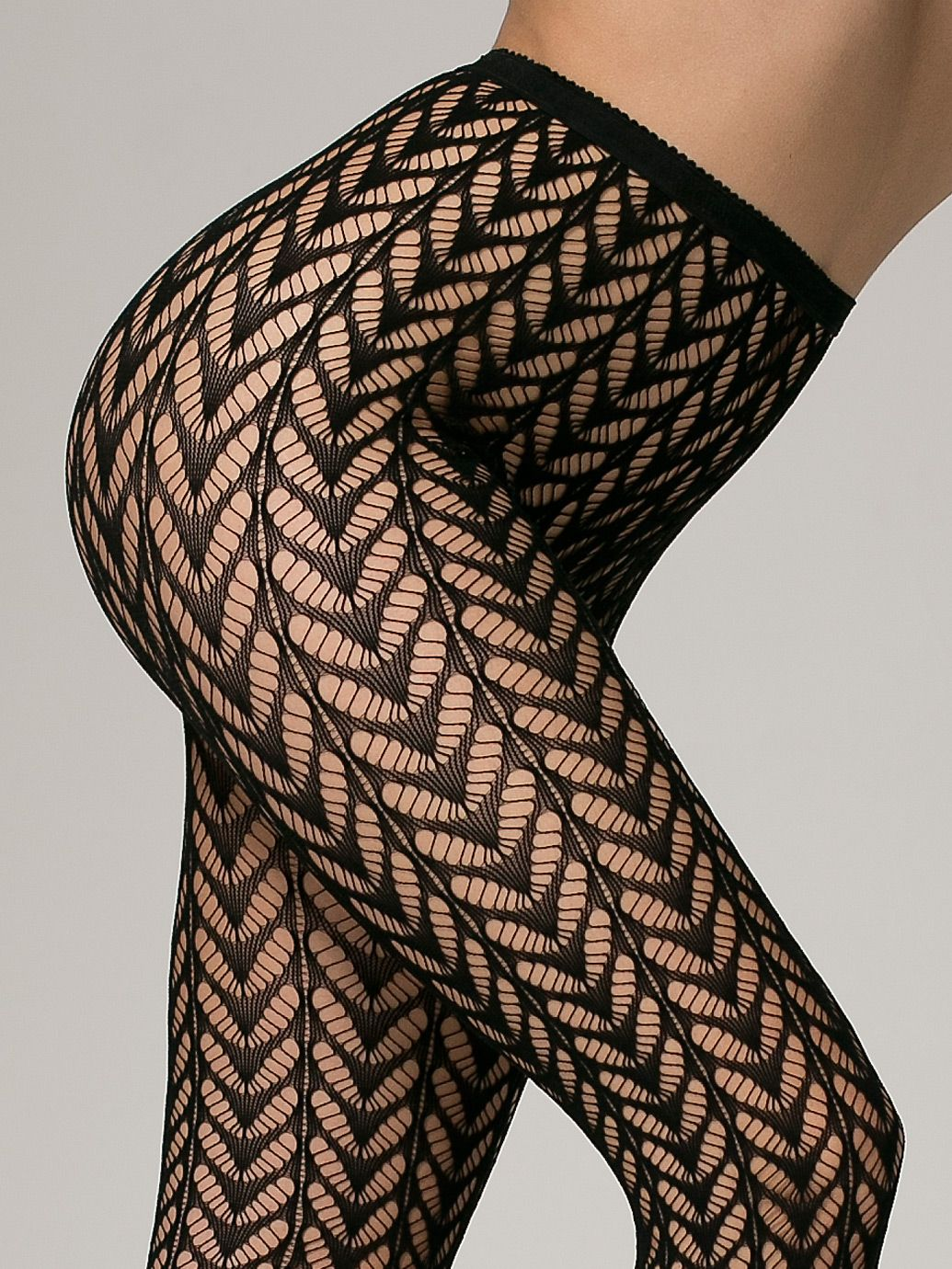 American Apparel Crescent Pattern Fishnet Tights Lacecrochet