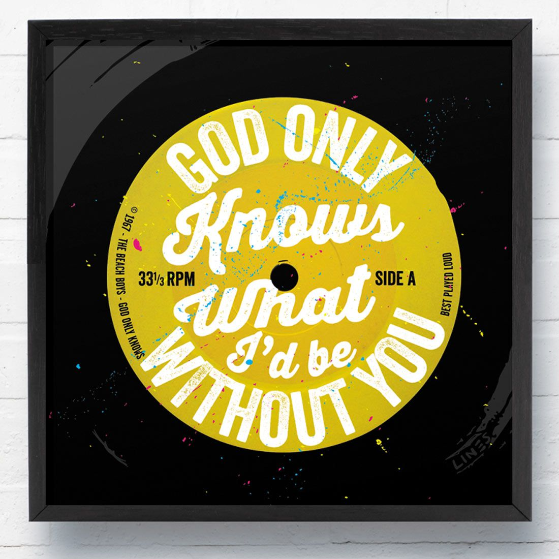 God Only Knows\' Beach Boys LP Wall Art Canvas Print   Lp, Canvases ...