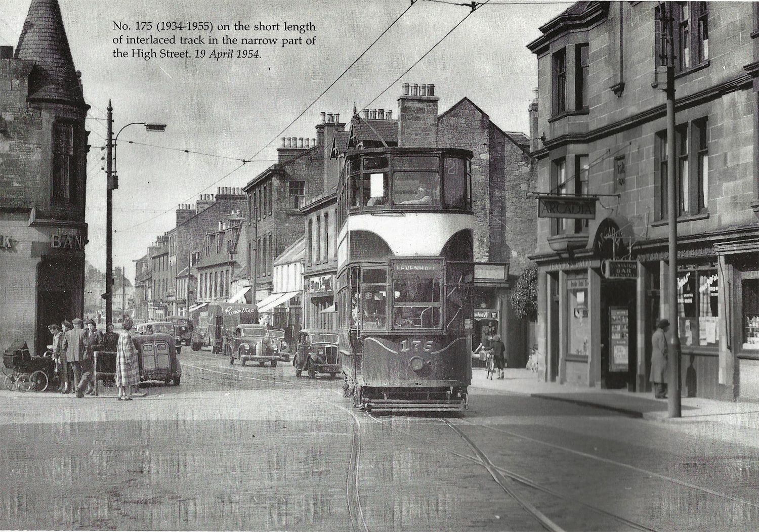 As only one week left before  #EdinburghTrams are #readytoroll here's how they used to look in 1954. #porty
