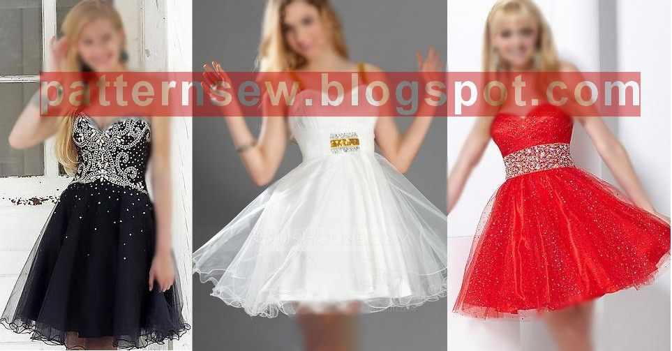Pattern Sewing باترون مفصل لفستان برنسيس قصير مقاس 36 56 Dress Patterns Princess Dress Formal Dresses