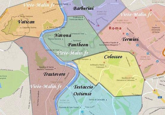carte de rome par quartier Visiter Rome facilement en 3 jours | Visiter rome