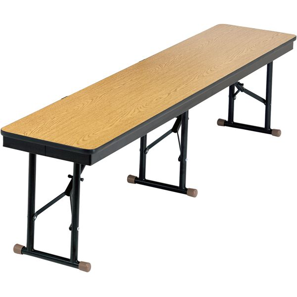 Folding Cafeteria Bench 6 L Compact Storage Lunch Table Tubular Steel