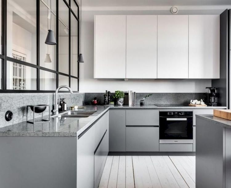 85 Top Scandinavian Kitchen Cabinets Design Ideas Kitchen Scandinaviandesign Kitchenide Modern Grey Kitchen Minimalist Kitchen Design Grey Kitchen Designs