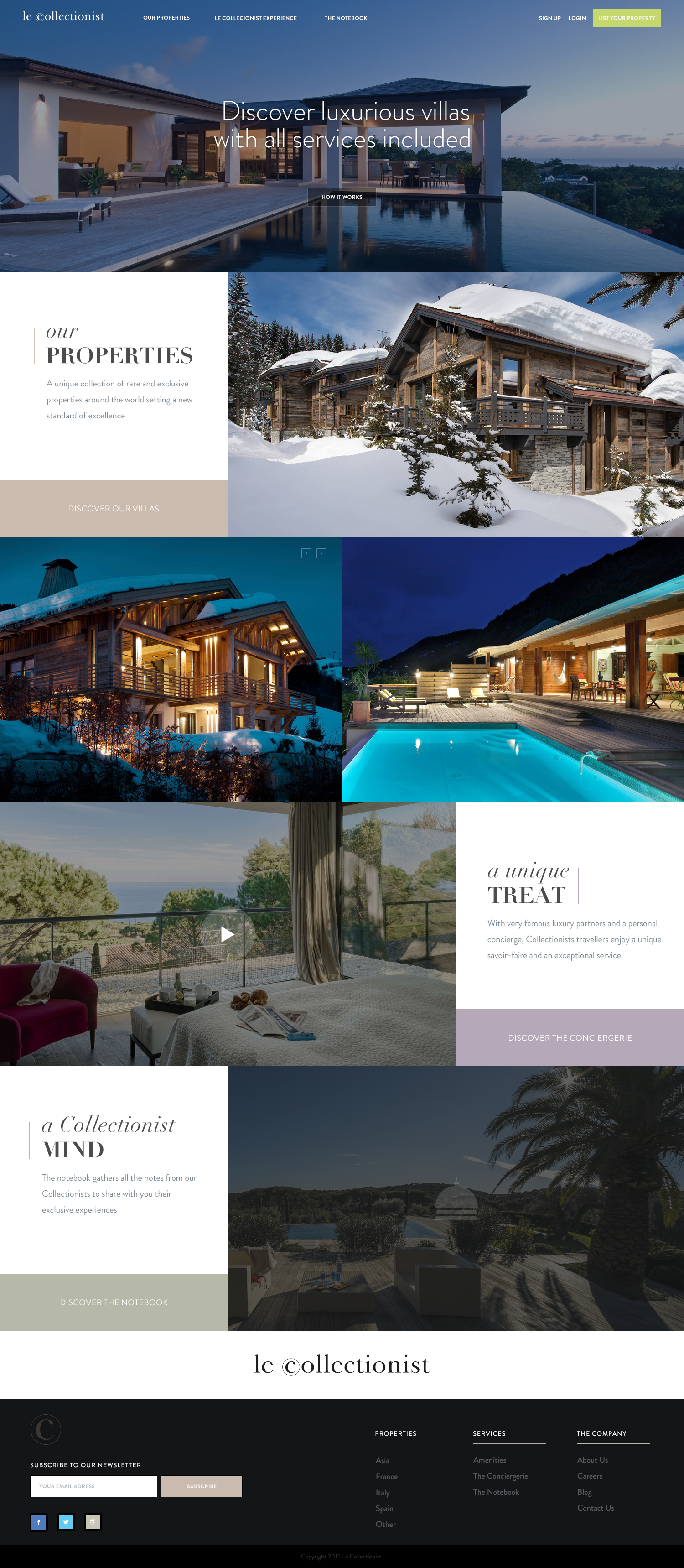 Fullscreen real estate rental website | Design & Web | Pinterest ...