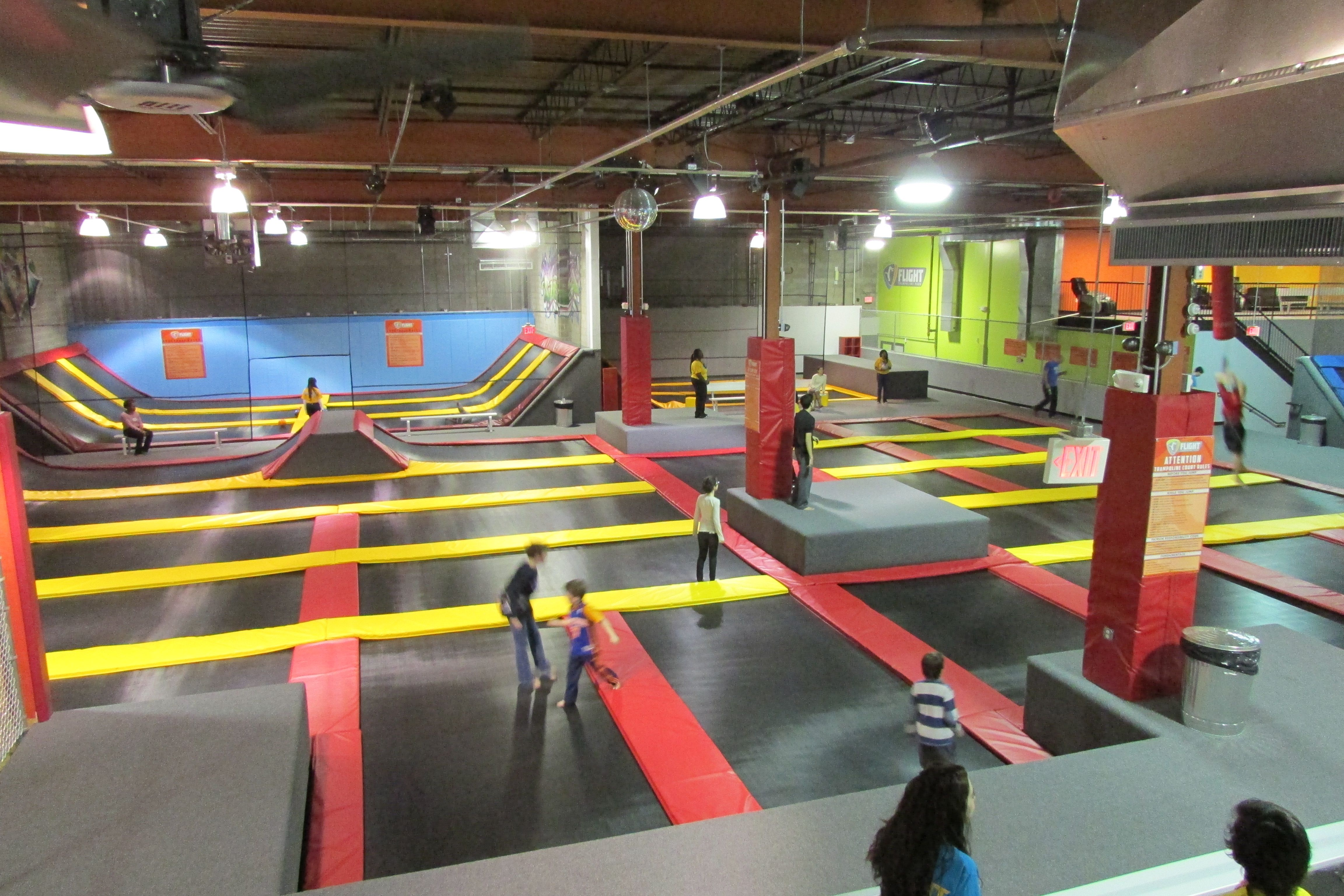 Indoor trampoline & bounce facility