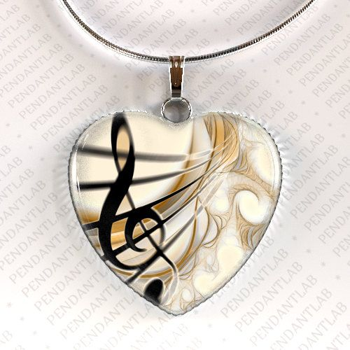 Treble Clef Music Pendant Music Necklace Gclef by PendantLab, $14.95 #trebleclef