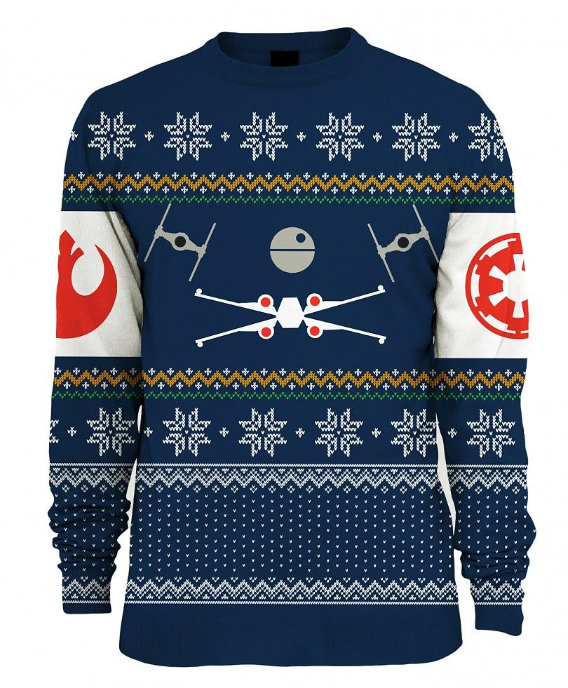 Star Wars Knitted Tie Fighter Vs X-Wing Fighter Fair Isle Jumper ...