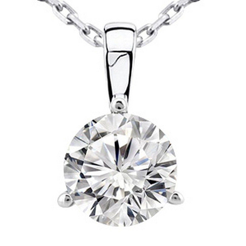 0 45 Near 1 2 Carat 14k White Gold Round Diamond Solitaire