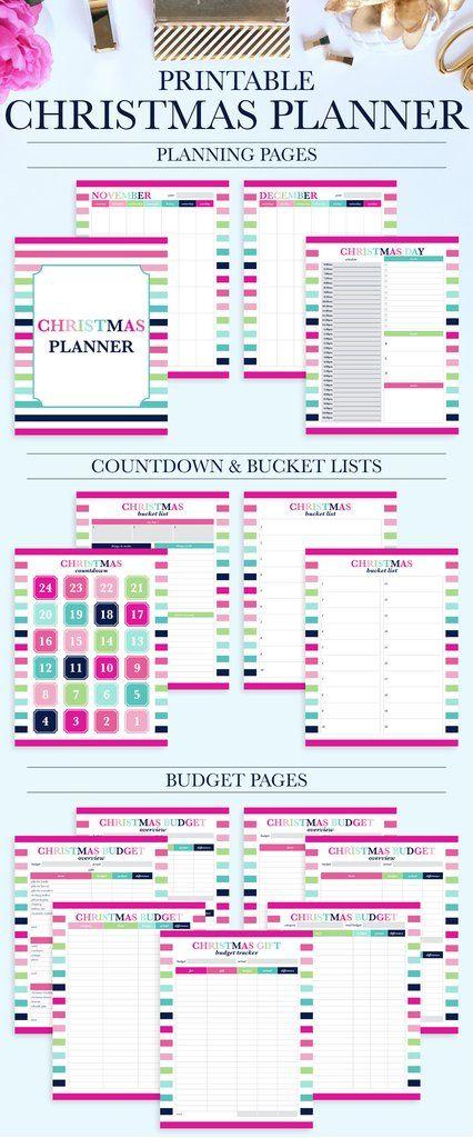 Christmas Planner Kit Pinterest Christmas budget, Holiday
