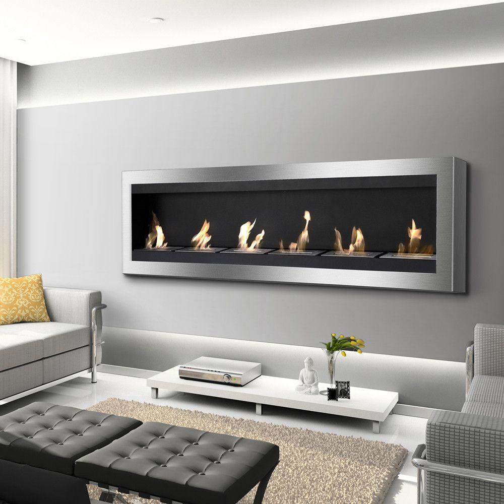 Ignis Maximum Wall Mounted Ventless Ethanol Fireplace Ethanol