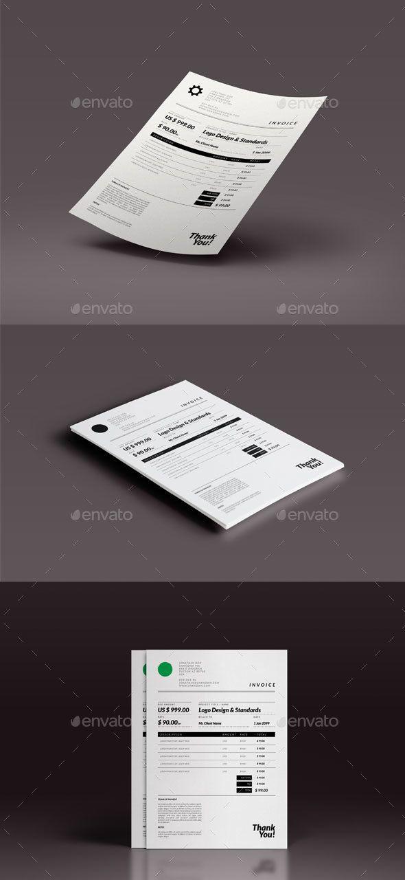 Retro Minimal Invoice Template Minimal, Template and Retro - invoice logo