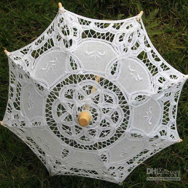 European Small Decorative Lace Parasol Umbrellas Doll S