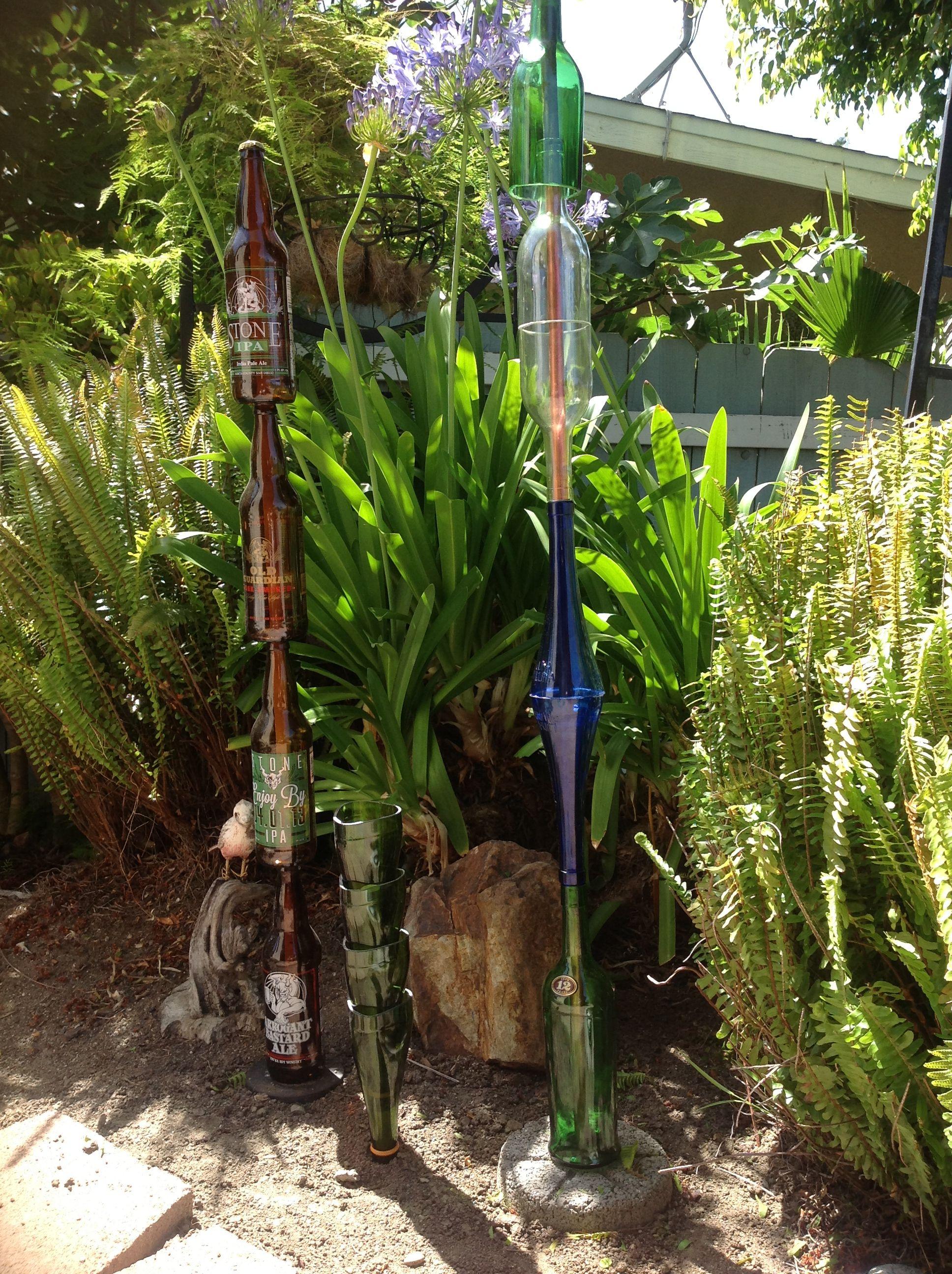 Wine Bottle - Yard Art | Bottle garden, Yard art, Wine ...