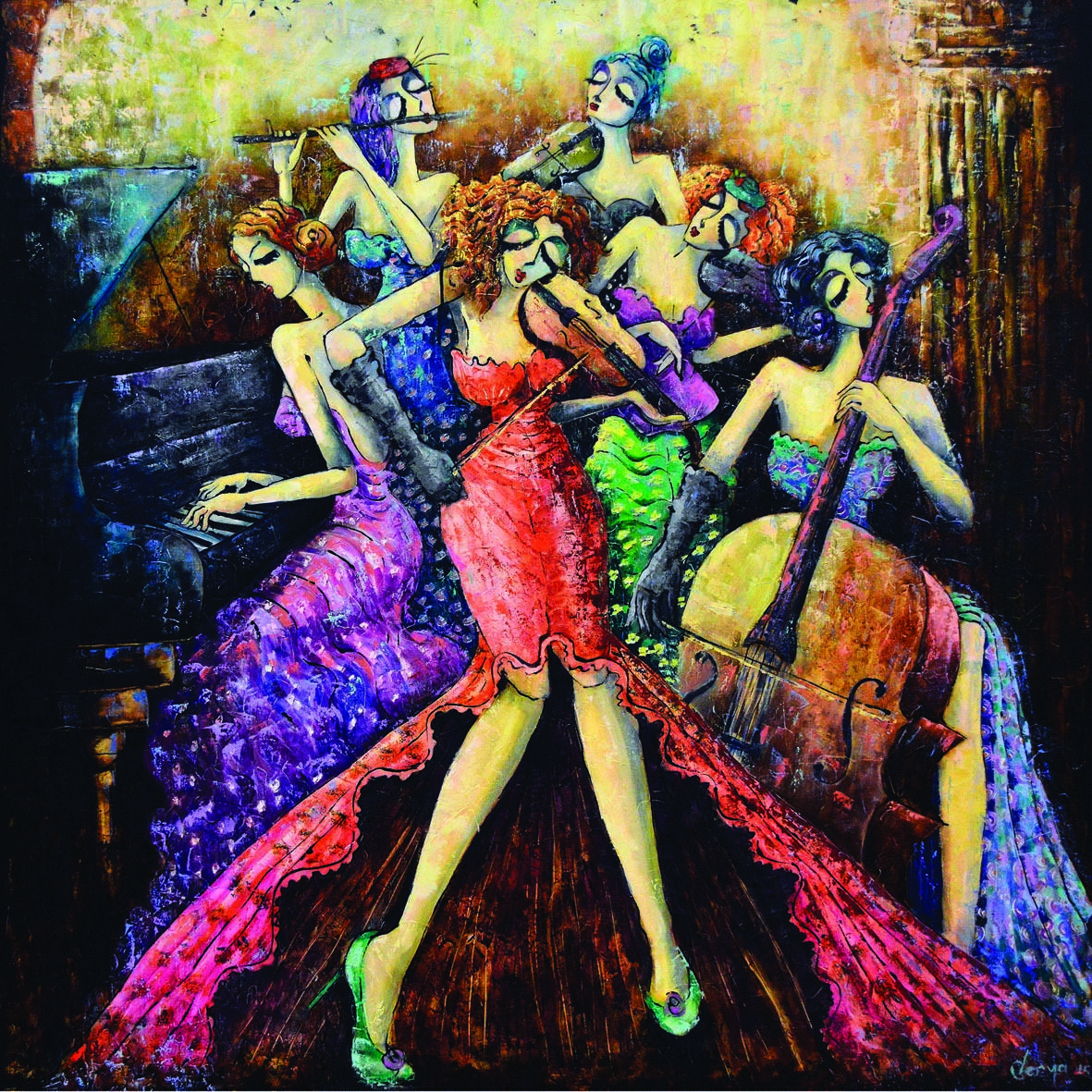 Ladies Orchestra - 1024pc Jigsaw Puzzle by Anatolian