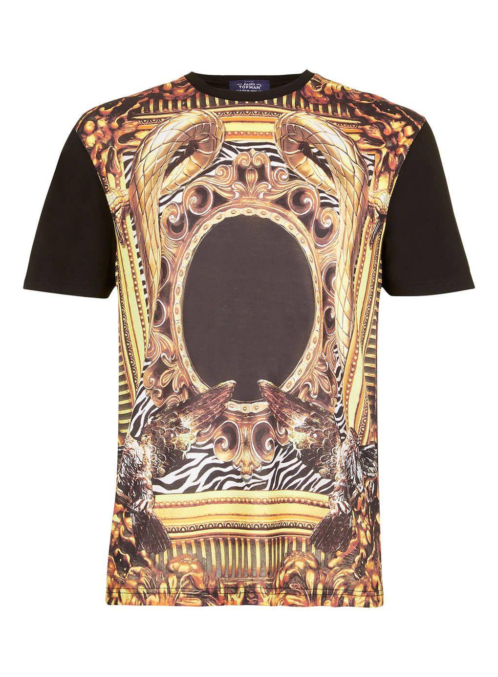 Black t shirt topman - Black Gold Frame T Shirt T Shirts Vests New In